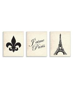 Look at this Eiffel Tower & Fleur-De-Lis Wall Plaque Set on #zulily today!