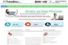 HispaBux | Nueva PTC Hispana | Dinero Generado. http://www.dinerogenerado.com/2015/01/10/hispabux-nueva-ptc-hispana/