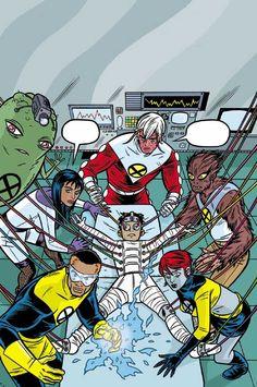 X-FORCE #119 Funny Animal Pictures, Funny Animals, Mike Allred, Comic Art Community, X Force, Marvel, Comic Books Art, Superhero, Comics