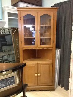 Vintage corner china cabinet