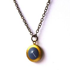 Dandelion Locket Necklace Blue now featured on Fab.