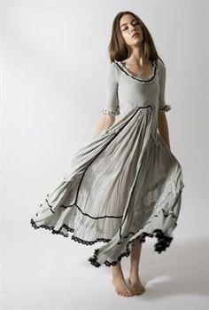 Light gray prairie style dress