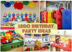Lego Birthday Party Ideas #Lego #KidsParties