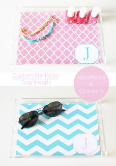 Free Customized Printable Tray Insert. Personalize it, print it & place it in a tray. Perfect Gift! {For Chic Sake}