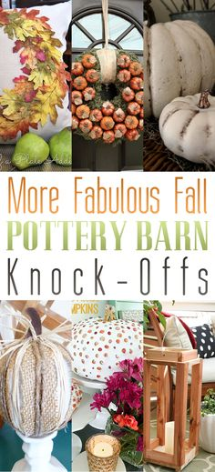 More Fabulous Fall Pottery Barn Knock-Offs - The Cottage Market