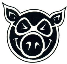 "Pig Wheels Pig Head 4"" x 5"" Skateboard Sticker"