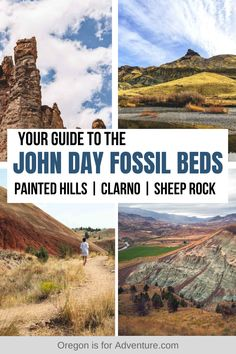 The John Day Fossil Beds in Eastern Oregon are a US National Monument, and an easy day trip from Bend. This stunning landscape of badlands is made up of colorful rocks and uniquely eroded pinnacles, and is home to incredibly well preserved layers of fossil plants and mammals that lived in the region from about 45 to 5 million years ago. Find out everything you need to know about visiting the John Day Fossil Beds in Oregon. | Oregon is for Adventure #oregon #johndayfossilbed #nationalmonument Usa Travel Guide, Travel Usa, Travel Tips, Cruise Travel, Travel Guides, Vacation Places In Usa, Places To Travel, Travel Destinations, Oregon Travel