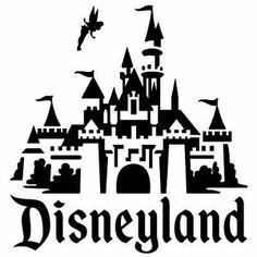 Disneyland Castle vinyl decal, stic ker - NEW . Disney Crafts, Disney Fun, Disney Parks, Silhouette Vector, Silhouette Cameo, Castle Clipart, Disney Decals, Disneyland Trip, Disney Scrapbook