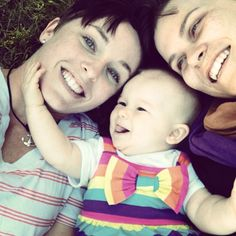 Such a a sweet photo. #lesbianmoms