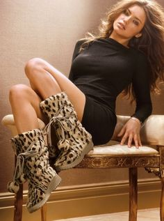 animal-print boots.... They look great for fall