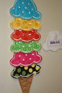 Ice cream scoop reward chore chart - SO cute and FUN!