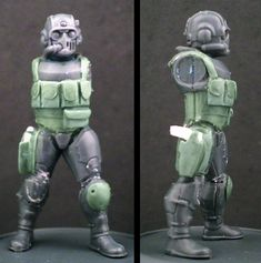 Dreamforge Eisenkern with 40k scion head simple greenstuff chest rig