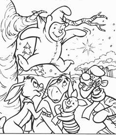 Desenhos para colorir para crianças. Desenhos para imprimir e colorir Winnie the Pooh 12