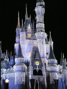 Christmas in Cinderella's Castle, Magic Kingdom--can't wait to go back and see at the holidays again some day!