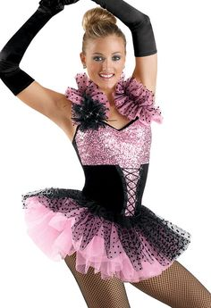 Women's Sequin Corset Leotard; Weissman Costumes