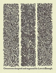 William Morris - Ornaments designed and engraved for Love is Enough