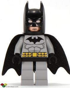 This is a LEGO Batman with Medium Stone Gray Suit and Black Mask Minifigure from the LEGO Batman theme. Description from brickowl.com. I searched for this on bing.com/images