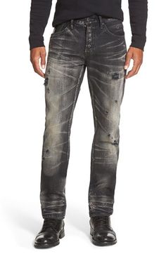 PRPS 'Demon - Jacinta' Straight Leg Jeans (Black) available at #Nordstrom