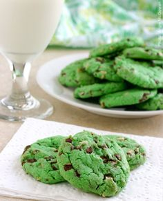Mint chocolate chip cookies - will not make b/c I will love these!