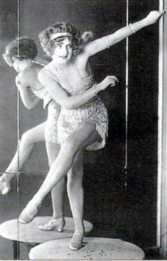 Bee Jackson, the Charleston Queen, at the Piccadilly Hotel Cabaret! c.1925. S)