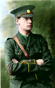 size: Photographic Print: Michael Collins in the Uniform of the Irish Republican Army, by Irish Photographer : Michael Collins, Irish Celtic, Irish Men, Celtic Art, Commonwealth, Irish Free State, Irish Independence, Irish Republican Army, Easter Rising