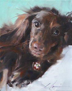 Clair Hartmann Daily Painting: Bella. r.