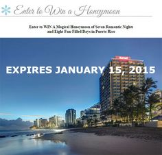 Puerto Rico Honeymoon Sweepstakes Expires Jan 15 2015