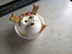 Doggie sundaes from Swirls n Scoops in Grafton, MA... What dog owner can resist an ice cream shop that provides cool treats for their dogs too?!