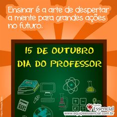 15/10 - Dia do Professor