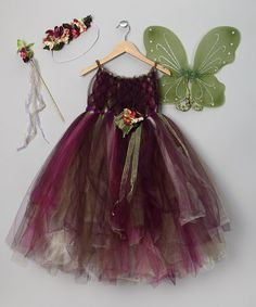 Take a look at this Purple & Green Fairy Dress Set - Toddler & Girls by Enchanted Fairyware Couture on #zulily today!