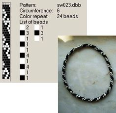 crafty jewelry: beaded jewelry - crafts ideas - crafts for kids Crochet Bracelet Pattern, Crochet Beaded Bracelets, Bead Crochet Patterns, Bead Crochet Rope, Peyote Patterns, Bracelet Patterns, Beading Patterns, Beaded Crochet, Beading Projects