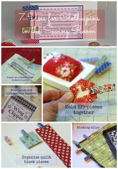 Quick gift:  Fabric covered clothespins for the sewing room