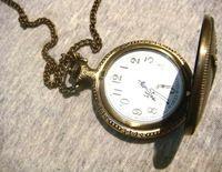 Jenia Vintage Eiffel Tower Necklace Pocket Watch PH01