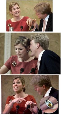 King Willem Alexander & Queen Maxima of the Netherlands the day they were engaged.