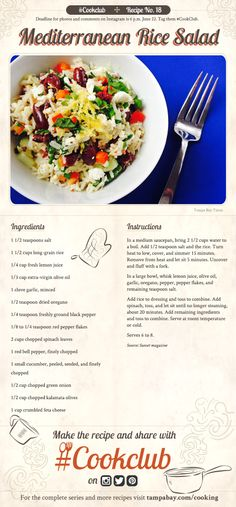 #CookClub recipe No. 18: Mediterranean Rice Salad