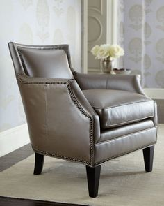 """BRADINGTON-YOUNG """"Maxwell"""" Leather Chair"""