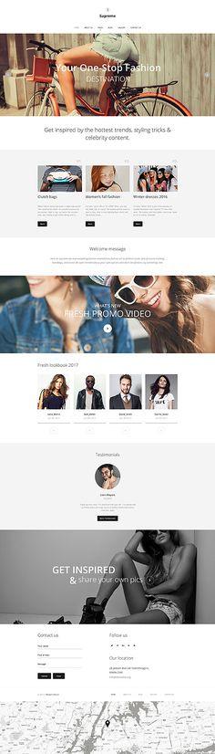 Fashion & Trends Blog #Joomla #template. #themes #business #responsive #Joomlathemes