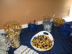 A candy bar, not a new idea, but certainly a popular one! Guests at Emily and Greg's wedding had plenty of candy varieties to choose from.