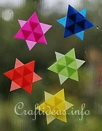 Christmas Paper Craft - Easy to Make Mini Transparent Stars