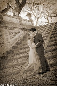 Wedding picture taken at Vizcaya Museum and Gardens,  Miami FL