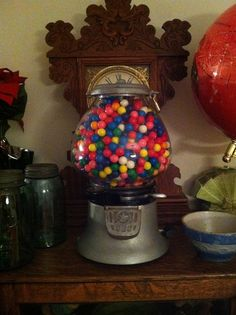 Featured Member Antiques: January 2 - Dusty Old Thing January 2, Gumball Machine, Snow Globes, Goodies, Old Things, Memories, Antiques, Vintage, Sweet Like Candy