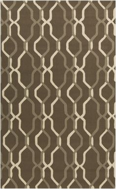 This rug is not only stylish with its overlapping pattern, it is also outdoor safe! From the Rain Collection by Surya. (RAI-1182)