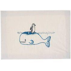 Whaleberg Embroidered Stationery