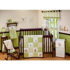 "Disney Classic Pooh - My Friend Pooh 4-Piece Crib Bedding Set - Disney Baby Classic Pooh - Babies ""R"" Us"