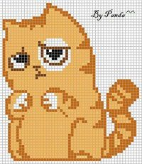 грустный кот смайл вк рисунки по клеточкам
