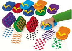 Thong Painters Set of 12. Children just slide their hands into our fun-shaped painters