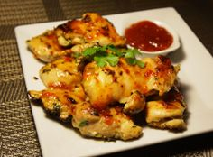 Cilantro Chicken with Sweet Chili Sauce