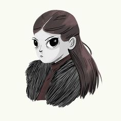 Lady Lyanna Mormont by Nan Lawson Lady Lyanna Mormont, Game Of Thrones Arya, Little Giants, Visual Development, Figure Drawing, Illustrators, Character Design, Doodles, Geek Stuff