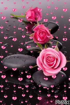 kalp ve gül – PicMix – Blumen Dekoration Good Morning Images Flowers, Beautiful Flowers Images, Beautiful Love Pictures, Beautiful Flowers Wallpapers, Beautiful Gif, Flower Images, Flower Pictures, Amazing Flowers, Beautiful Roses