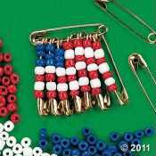 This would be a cool project to tie into citizenship.  Are safety pins a bad idea for Tigers?